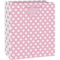 Lovely Pink Dots Gift Bag Large