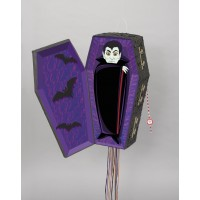 Pull Pop-Out Pinata with Hinged Coffin Lid