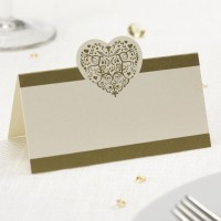 Vintage Romance - Place Card - Ivory/Gold - 50ct