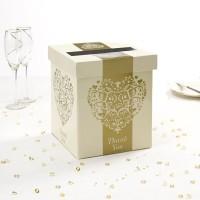 Vintage Romance Post Box - Ivory/Gold