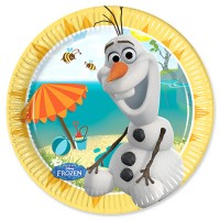 Olaf 7'' Plates 8CT