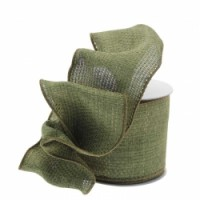 Heather Moss Green Ribbon (63mm x 10yds)