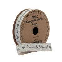Congratulations! Ribbon (15mm x 5m)
