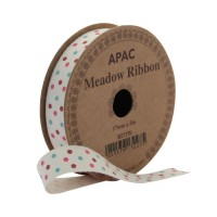 Meadow Ribbon Burgundy, Pink & Turquoise (17mm x 5m)
