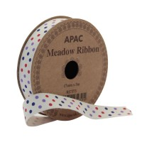 Meadow Ribbon Red, Lilac & Navy (17mmx 5m)