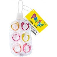 6 Trendy Rings Net Bag - Assorted Designs - Box of 75