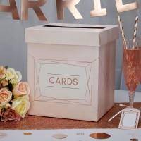 Geo Blush - Wedding Card Post Box