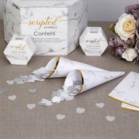 Scripted Marble - Confetti Cones - 10ct