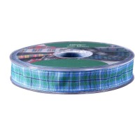 Douglas Satin Tartan Ribbon (15mm x 20m)