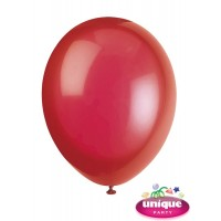 "12"" Scarlet Red Crystal - Helium Quality Balloon 10 CT."