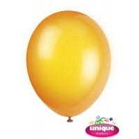 "12"" Citrus Orange Crystal - Helium Quality Balloon 10 CT."