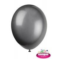 "12"" Phantom Black - Helium Quality Balloon 10 CT."