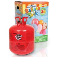 Helium Balloon Cylinder - 50 x 9'' balloons