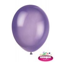 "12"" Midnight Purple Crystal - Helium Quality Balloon 10 CT."