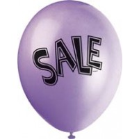 "SALE 12"" Latex Helium Fill Balloon - Pearlized Assorted Colours, Printed All Around - 5ct"