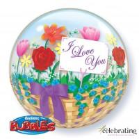 I Love You Flower Basket
