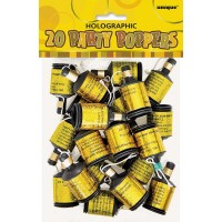 Gold Glitz Holographic Party Poppers 20ct. 10 Pk.