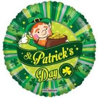 St Patricks Day Scene - 18 inch Foil Balloon