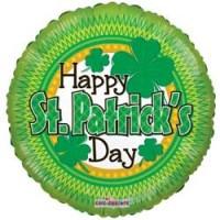 St Patricks Day Shamrock - 18 inch Foil Balloon