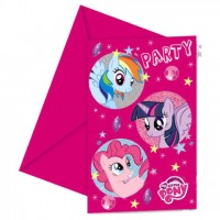 My Little Pony Sparkle Invitations & Envelopes 6ct