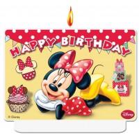 Minnie Cafe Happy Birthday Decor Candle