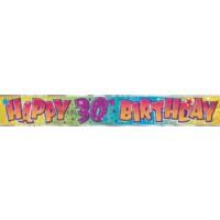 Happy 30th Birthday - Banner