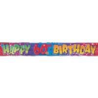 Happy 60th Birthday - Banner