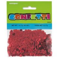 Red Foil Hearts - Foil Confetti - 0.5oz.