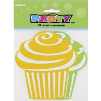 Mini Cupcake Cutouts - Green