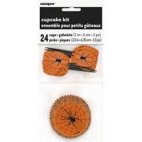 Spider Web Cupcake Kit For 24
