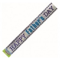 Happy Father's Day - Blue stripe - 12Ft Banner
