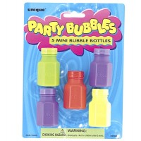 5 Mini Bubble Bottles