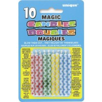 Diamond Dot Magic Birthday Candles Asst. Colours 10CT. - Pack of 12