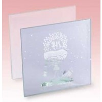 Communion Glass Candle Holder 100 x 60 x 100mm