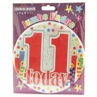 Age 11 Unisex Party Badge (15cm)
