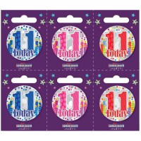 Age 11 Small Badges (5.5cm)