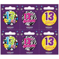 Age 13 Small Badges (5.5cm)