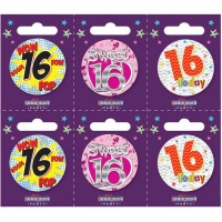 Age 16 Small Badges (5.5cm)