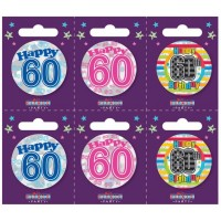 Age 60 Small Badges (5.5cm)