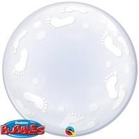 """Baby Footprints 24"""" Deco Bubble"""