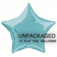 "Baby Blue - Star Shape - 20"" foil balloon (Pack of 12, Flat)"