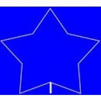 5 POINT STAR BALLOON FRAME