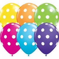 """Big Polka Dots 11"""" Tropical Assorted (50CT)"""