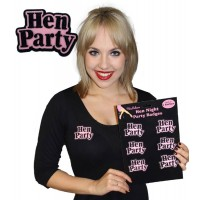 6 Hen Night Brooches