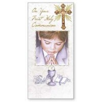Communion Boxed Card - Boy - Pack of 6