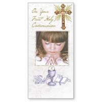 Communion Boxed Card - Girl - Pack of 6