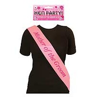 Sash Mother Of The Groom Pink with Pink Text