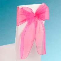 Snow Sheer Chair Tie 230mm x 3M Fuchsia