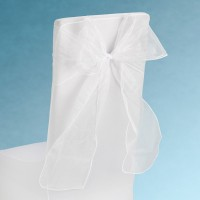 Snow Sheer Chair Tie 230mm x 3M White
