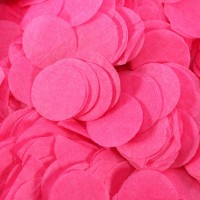 Hot Pink Paper Dots Confetti (100g)